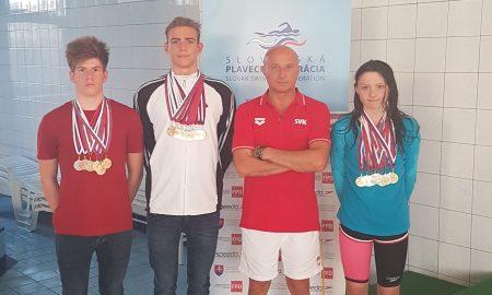 Ahoj Komárno - Plavci Delta klubu Komárno získali 35 medailí na Majstrovstvách Západoslovenskej oblasti